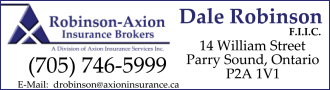 Dale Robinson Axion Insurance - Parry Sound
